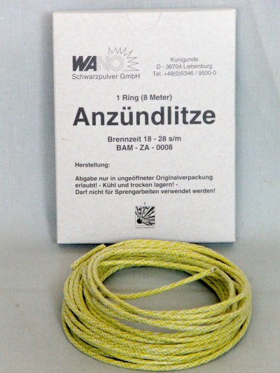 Anzündlitze gelb, 18-23s/m, 8m