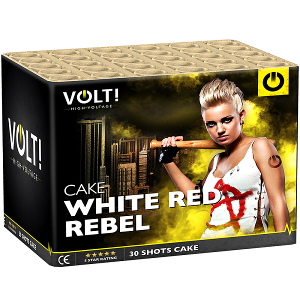 Vuurwerk Total White Red Rebel