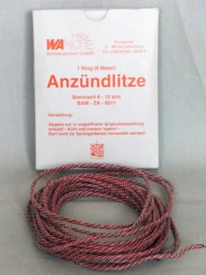 Anzündlitze rot, 8-12s/m, 8m